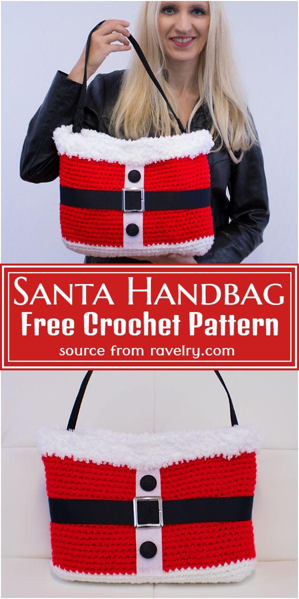 Free Crochet Santa Handbag Pattern