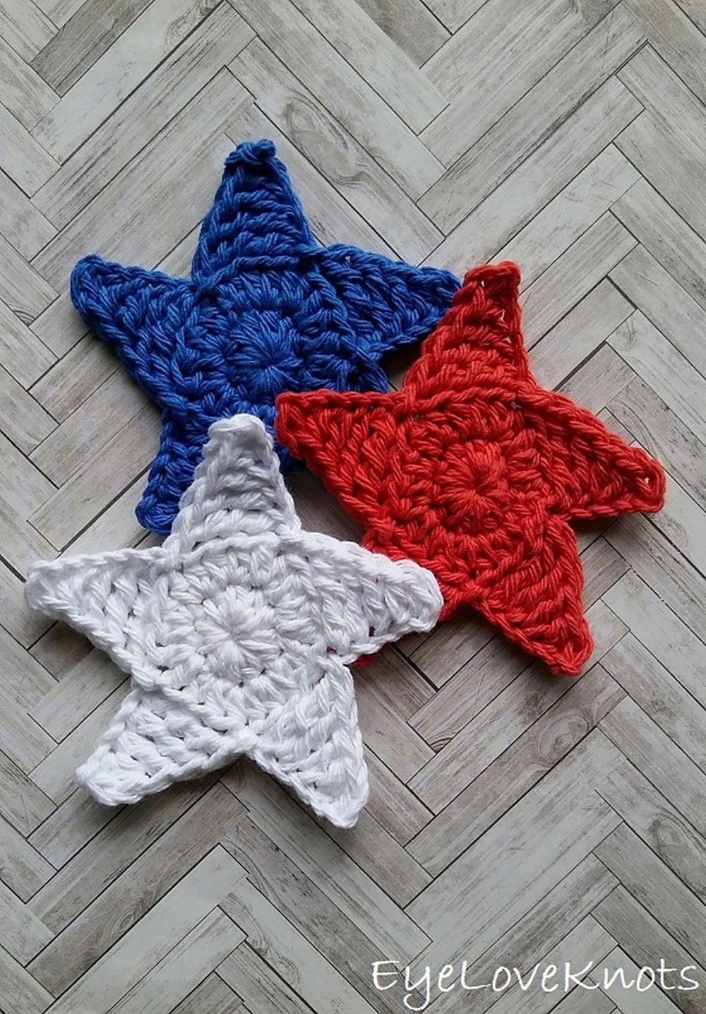 Free Crochet Seeing Stars Coasters Pattern