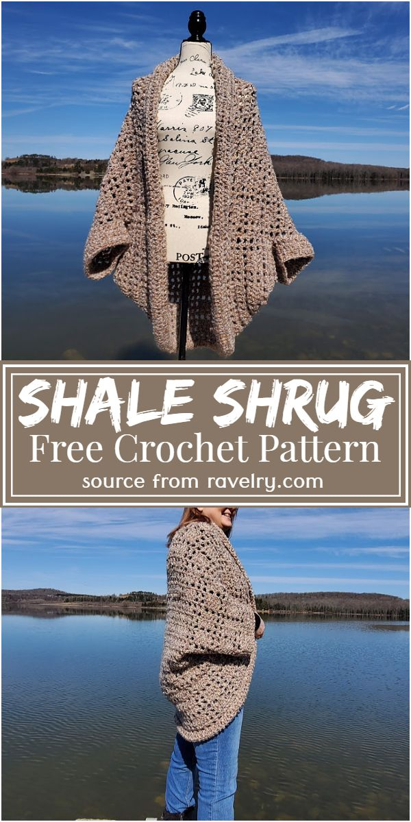 Free Crochet Shale Shrug Pattern