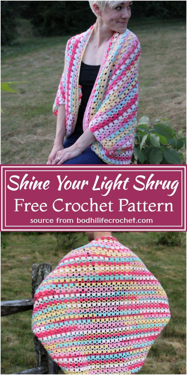 Free Crochet Shine Your Light Shrug Pattern