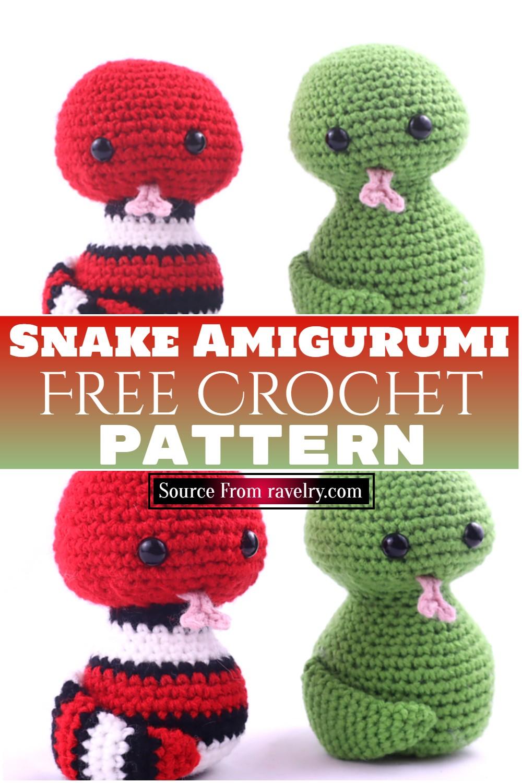 Free Crochet Snake Amigurumi pattern