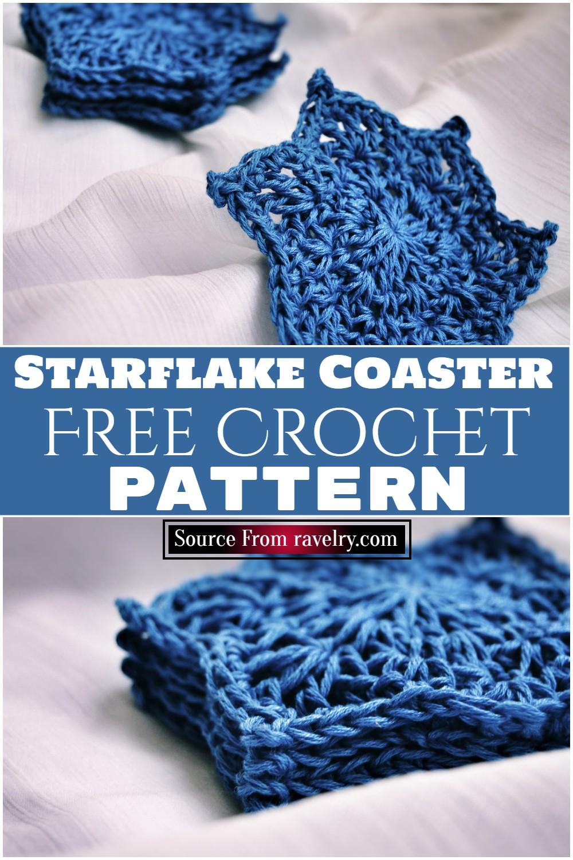 Free Crochet Starflake Coaster Pattern