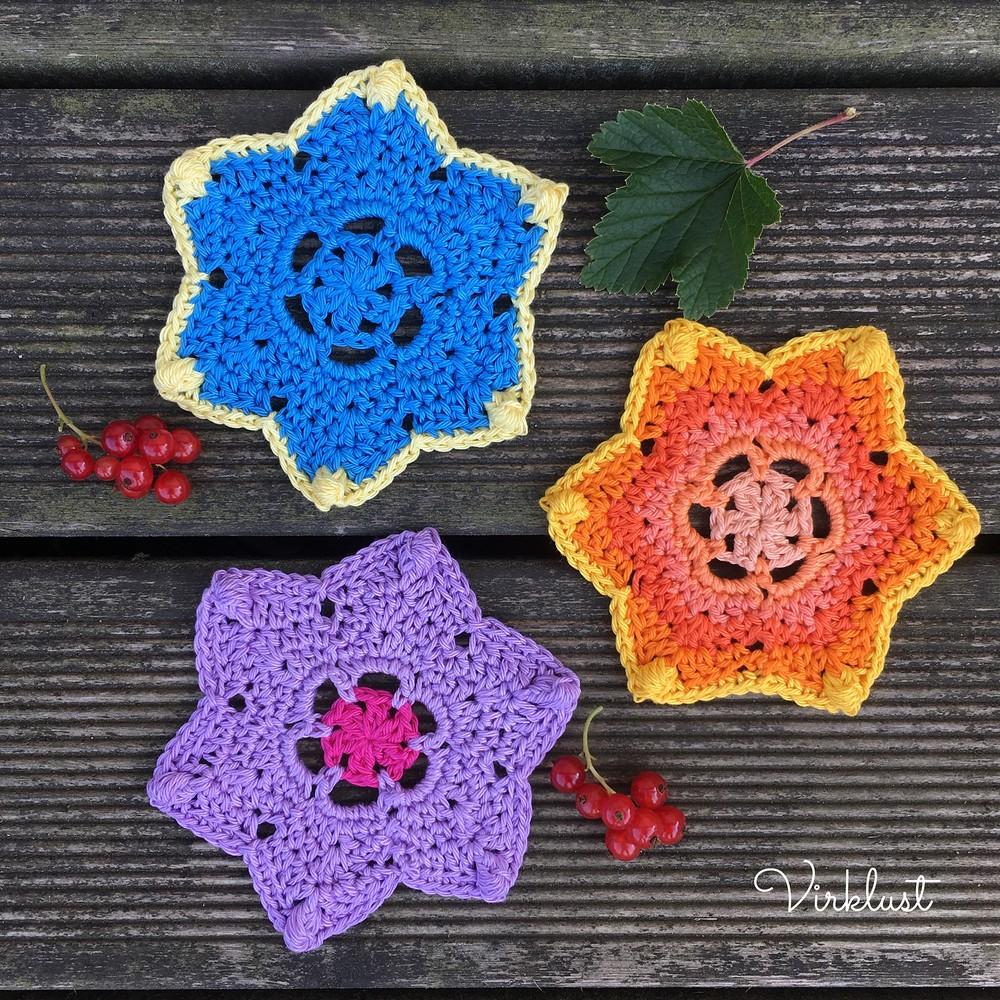 Free Crochet Stella Coaster Pattern