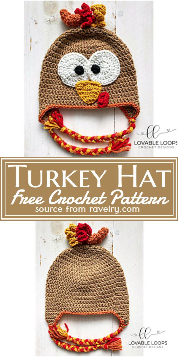 Free Crochet Turkey Hat Pattern
