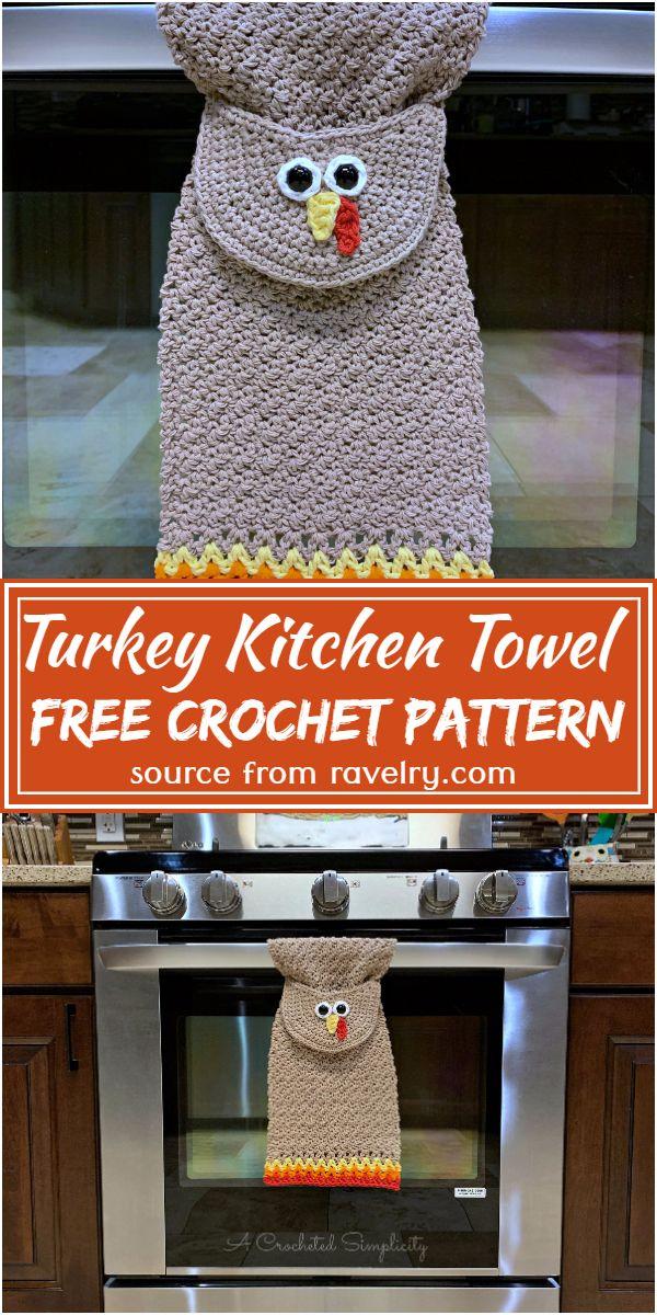 Free Crochet Turkey Kitchen Towel Pattern