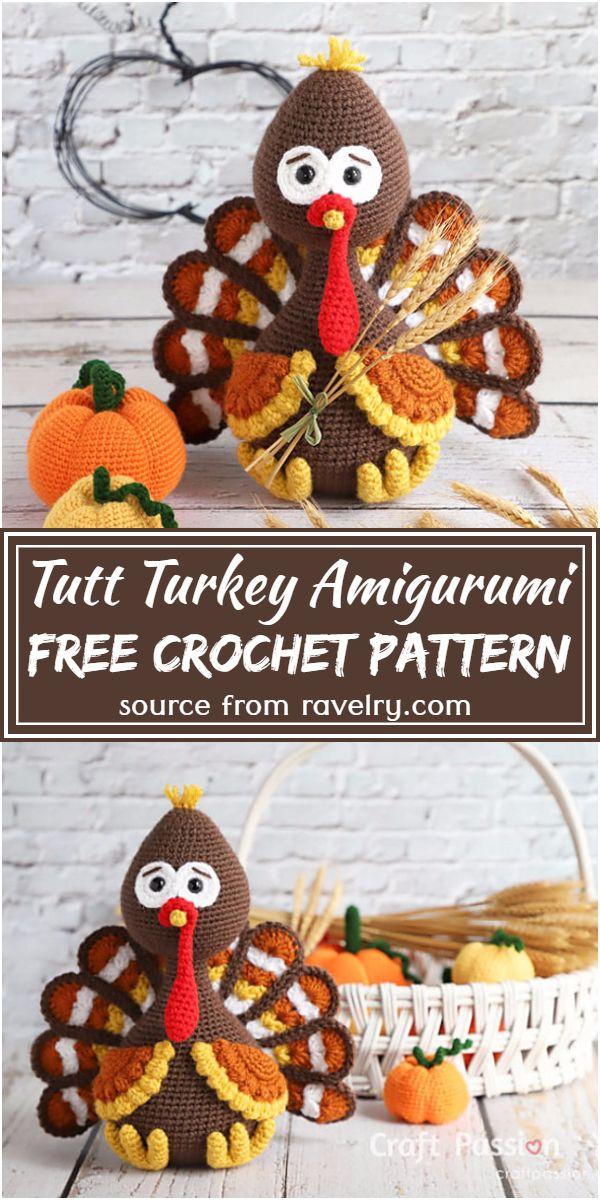 Free Crochet Tutt Turkey Amigurumi Pattern