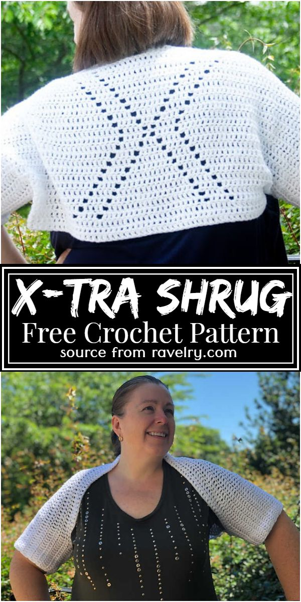 Free Crochet X-Tra Shrug Pattern