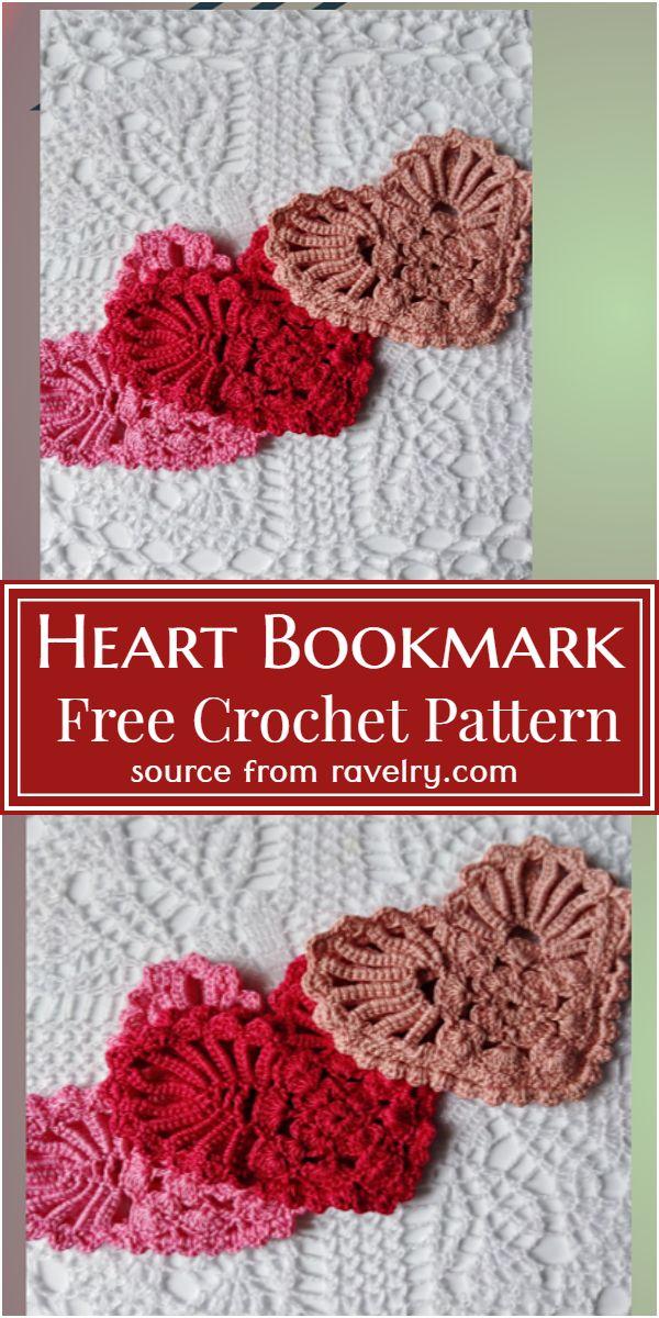 Heart Bookmark Crochet Pattern