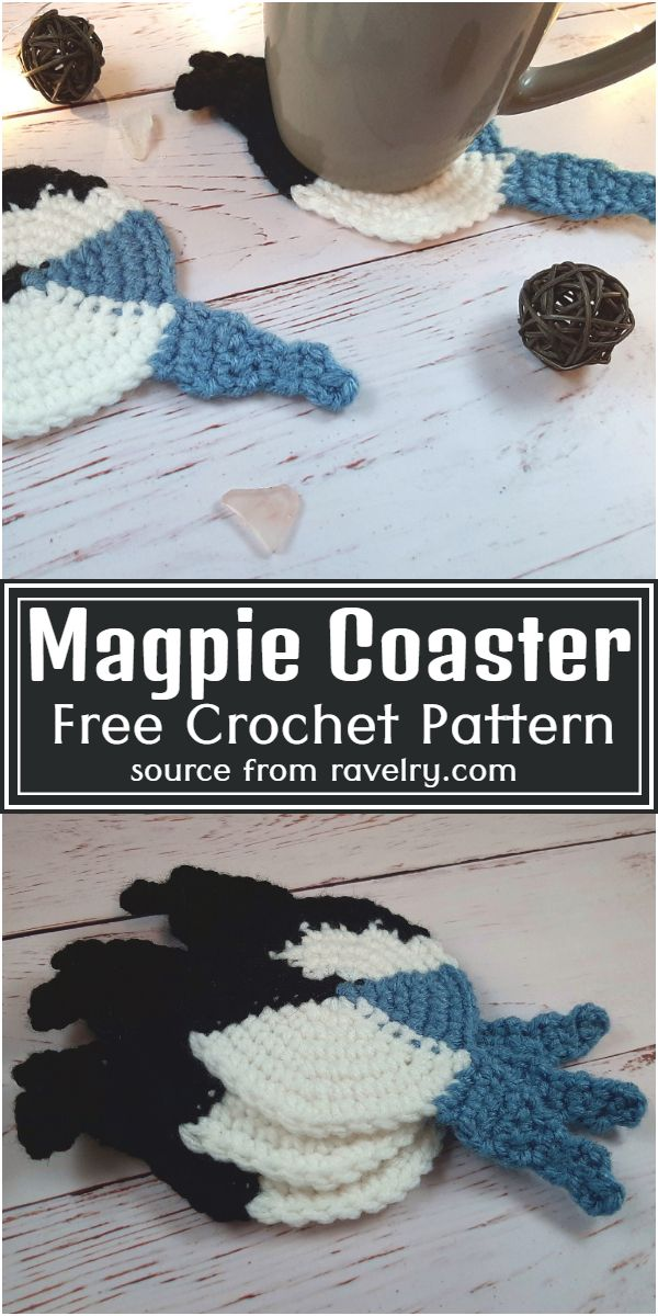 Magpie Coaster Crochet Pattern
