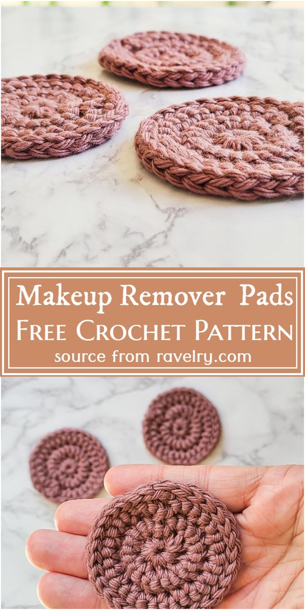 Makeup Remover Crochet Pads Free Pattern