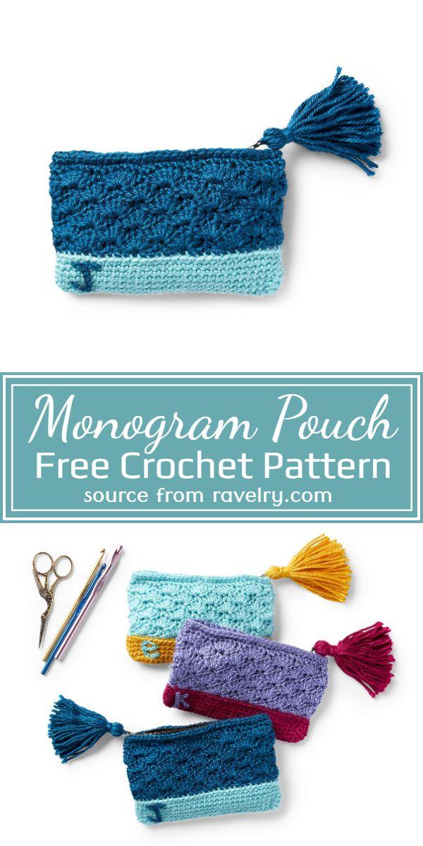 Monogram Crochet Pouch Pattern