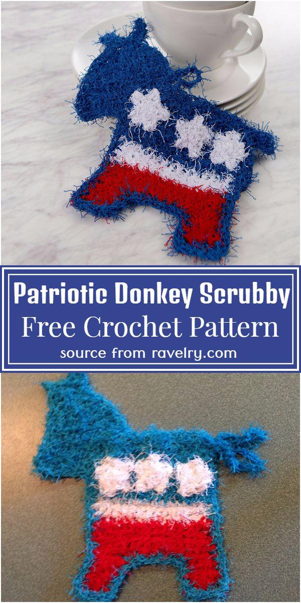 Patriotic Scrubby Pattern