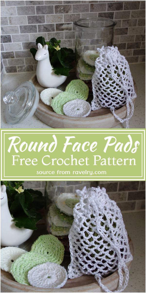 Round Face Crochet Pads Free Pattern
