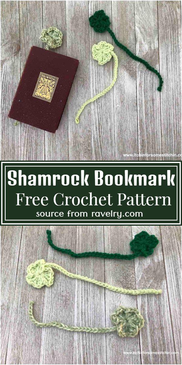 Shamrock Crochet Bookmark Pattern