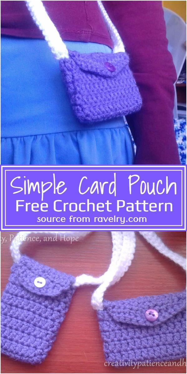 Simple Card Crochet Pouch Pattern
