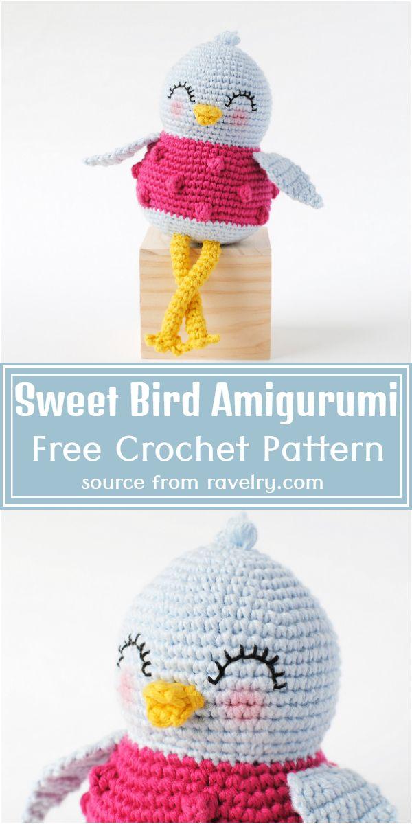 Sweet Bird Amigurumi Crochet Pattern