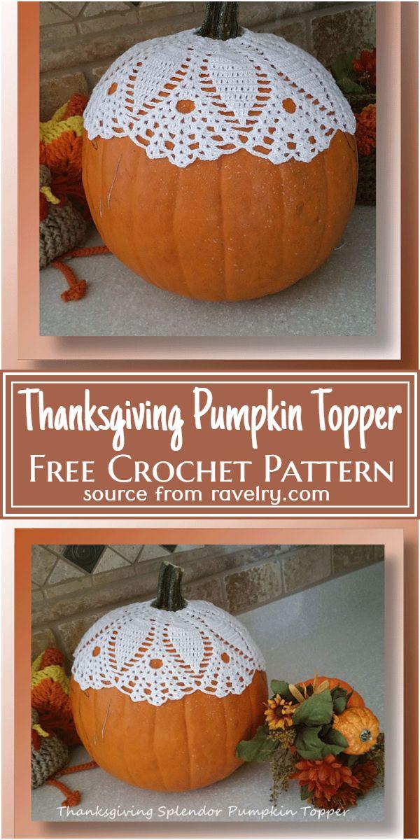 Thanksgiving Pumpkin Topper Crochet Pattern