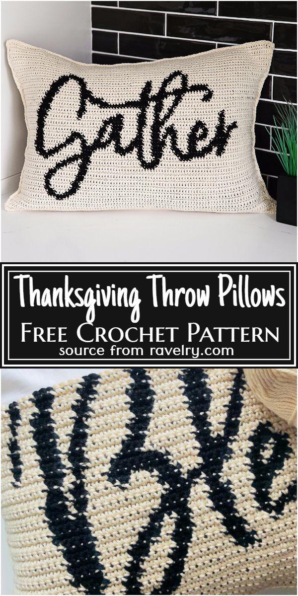 Thanksgiving Throw Pillows Crochet Pattern