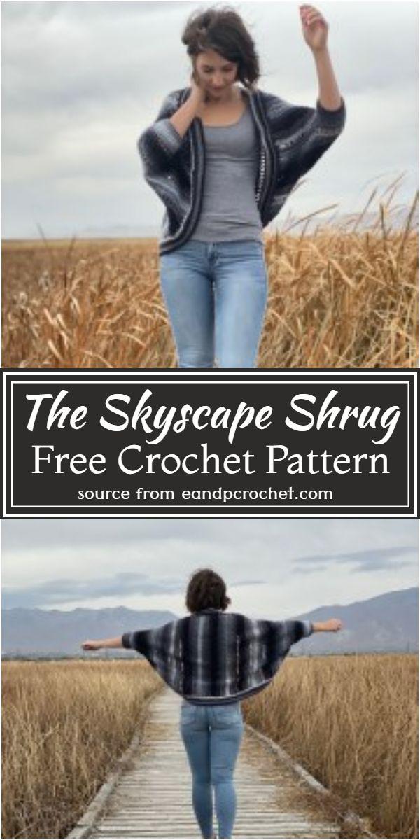The Skyscape Crochet Shrug Pattern