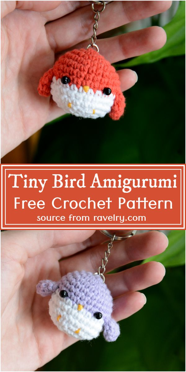 Tiny Crochet Bird Amigurumi Pattern