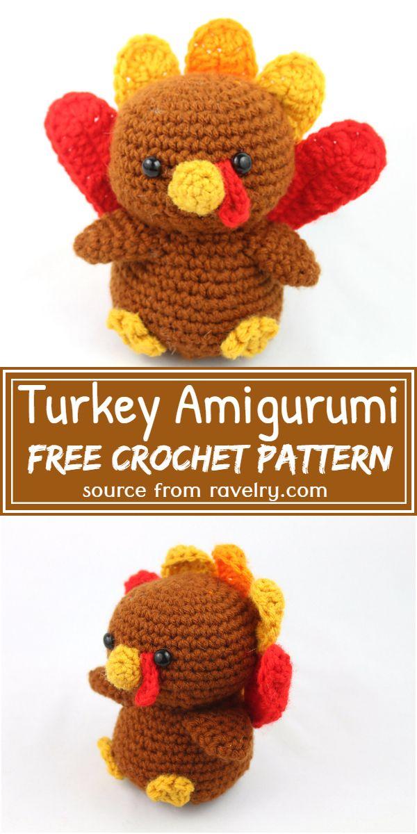 Turkey Amigurumi Crochet Pattern
