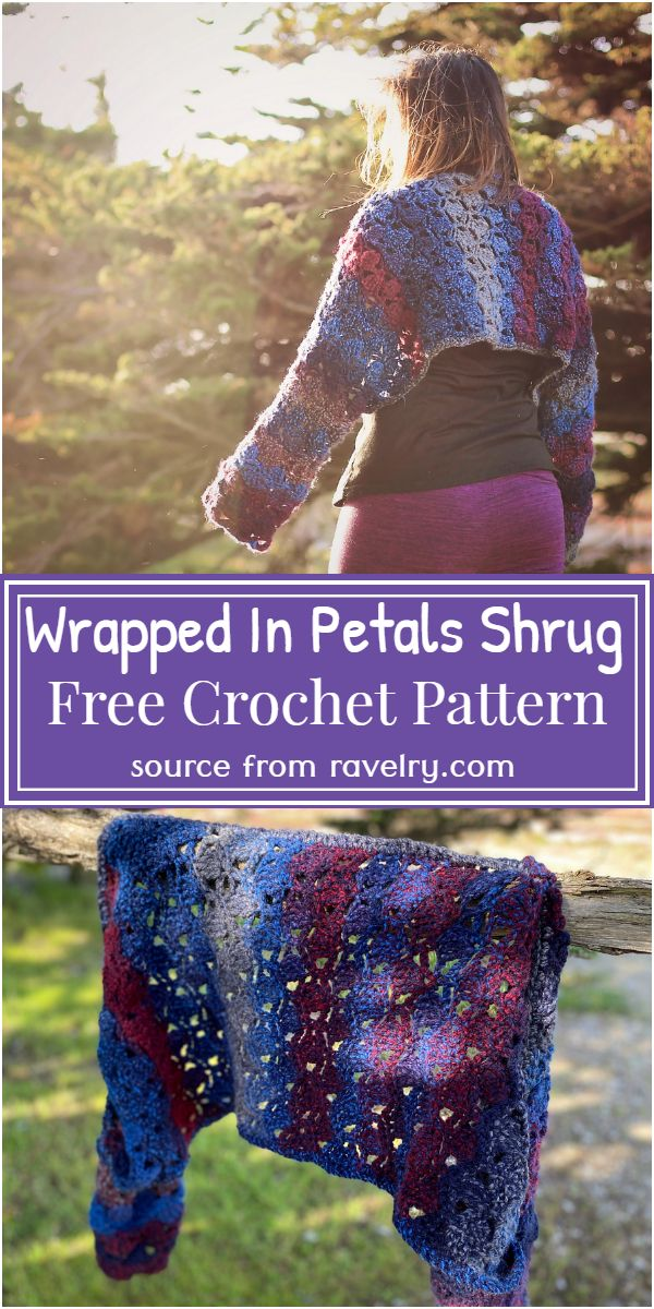 Wrapped In Petals Crochet Shrug Pattern