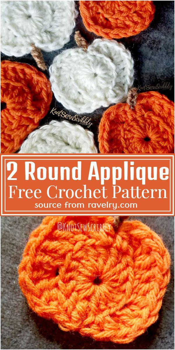 2 Round Applique Free Pattern