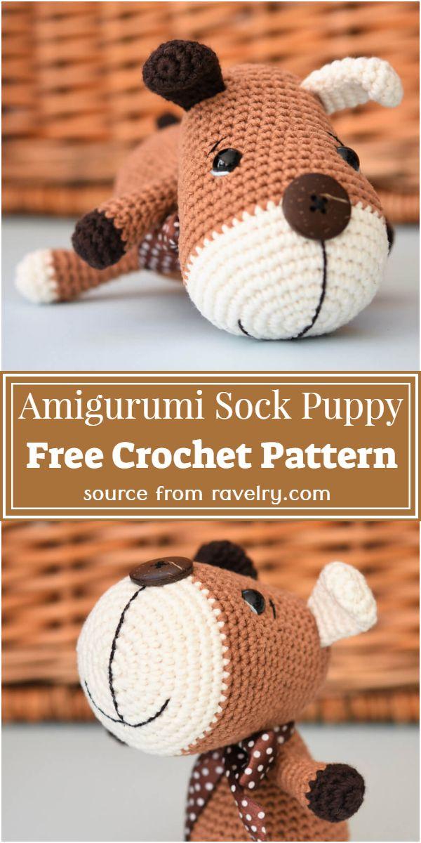 Amigurumi Sock Puppy Crochet Pattern