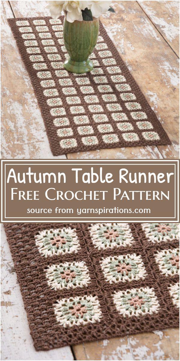 Autumn Table Runner Crochet Pattern