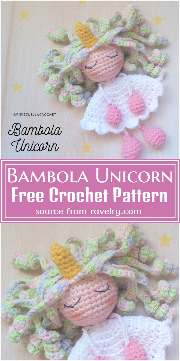 Bambola Crochet Unicorn Pattern