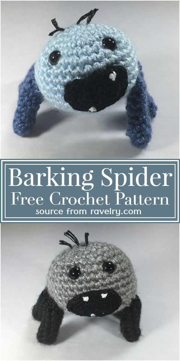 Barking Spider Crochet Pattern