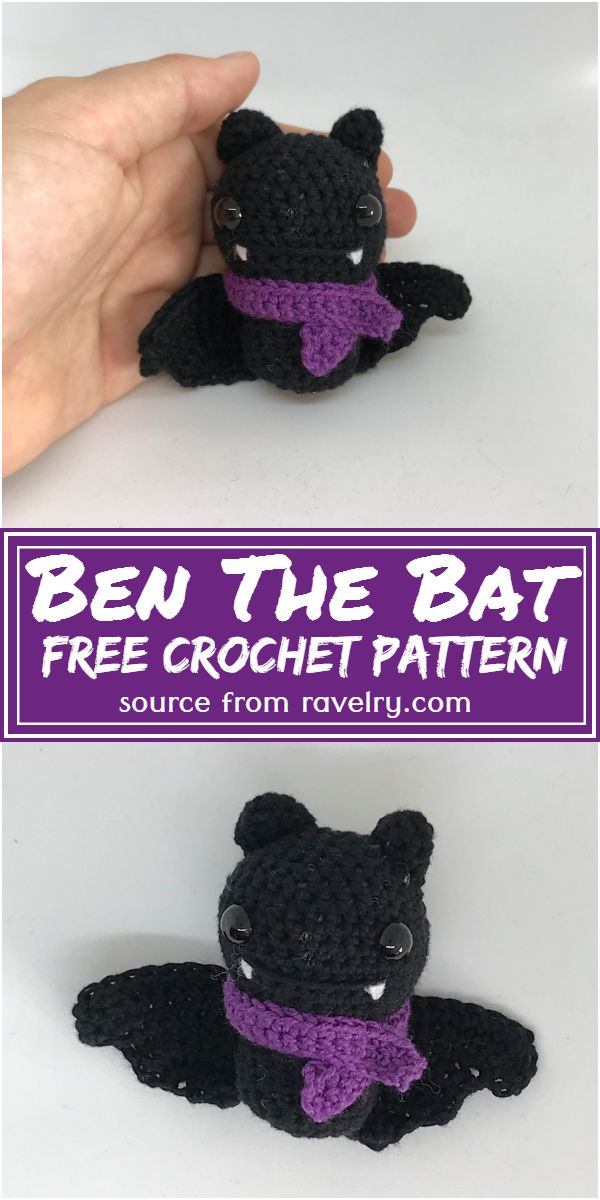 Ben The Bat Crochet Pattern