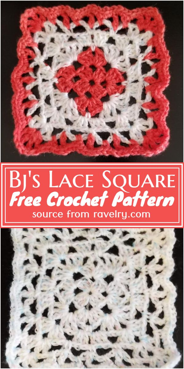 Bj's Lace Square Crochet Pattern