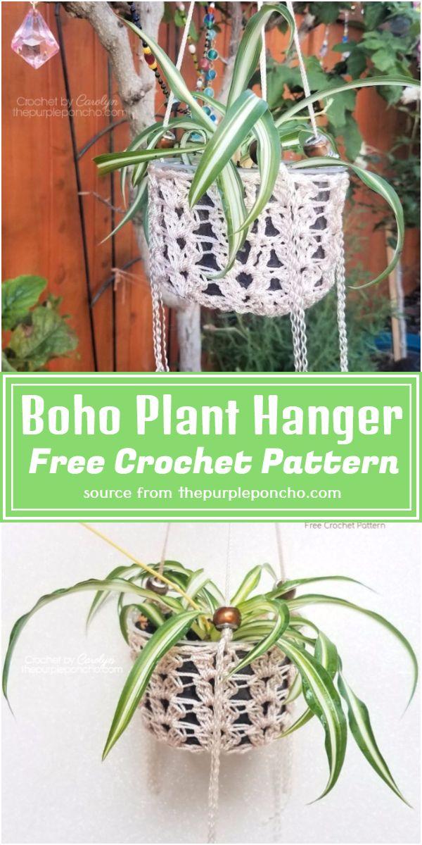 Boho Plant Hanger Crochet Pattern