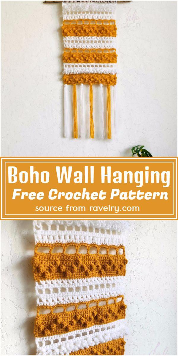 Boho Wallhanging Crochet Pattern