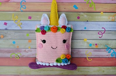 Cake Amigurumi Cuddler Crochet Unicorn Pattern