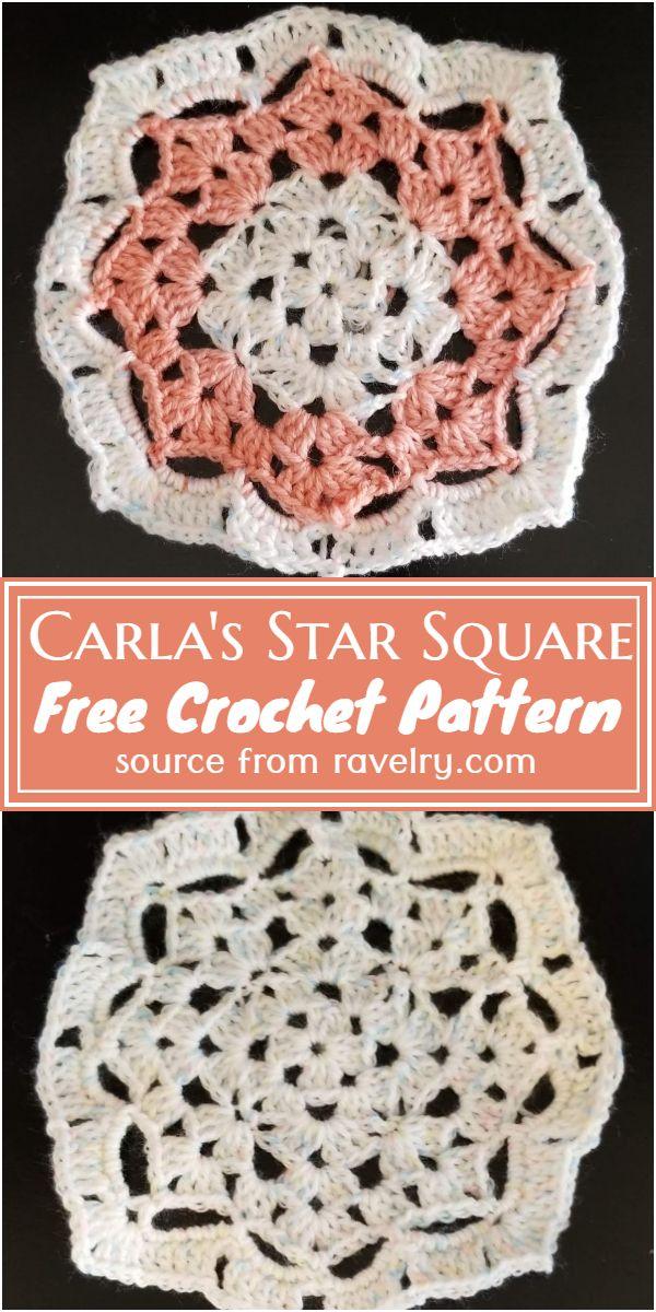 Carla's Star Square Crochet Pattern