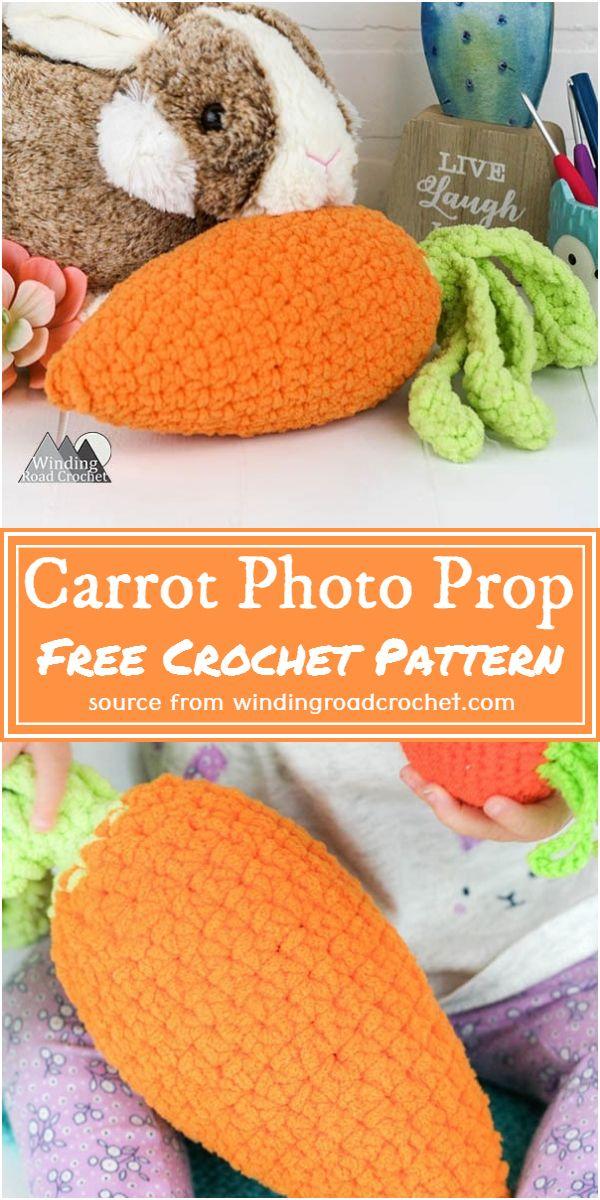 Carrot Photo Prop Crochet Pattern