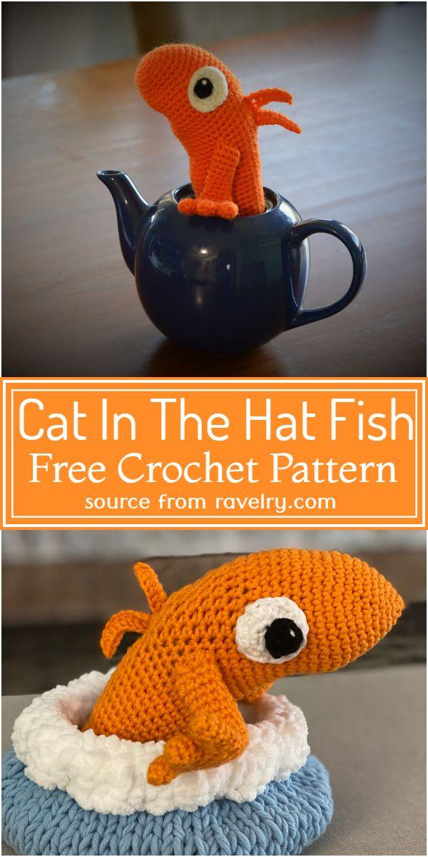 Cat In The Hat Crochet Fish Pattern