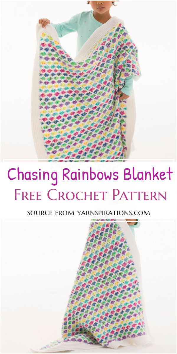 Chasing Crochet Rainbows Blanket Free Pattern