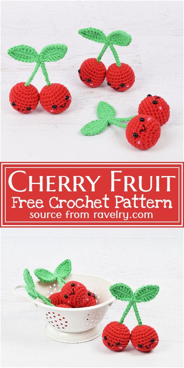 Cherry Fruit Crochet Pattern