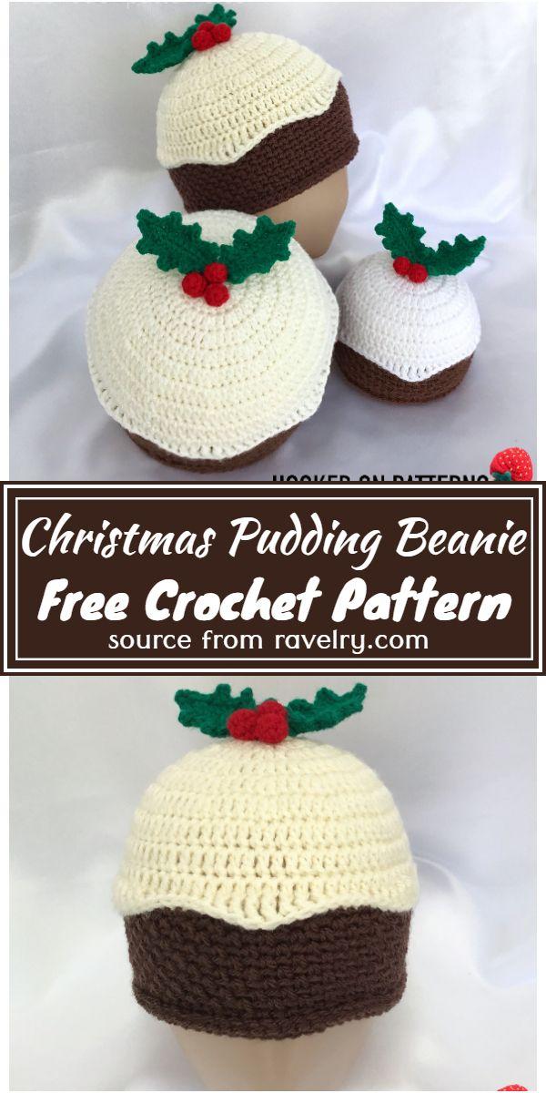 Christmas Pudding Beanie Crochet Pattern