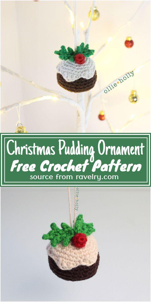 Christmas Pudding Ornament Crochet Pattern