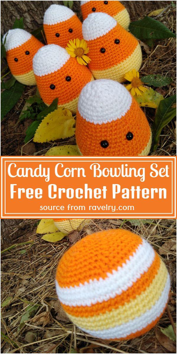 Crochet Candy Corn Bowling Set Free Pattern