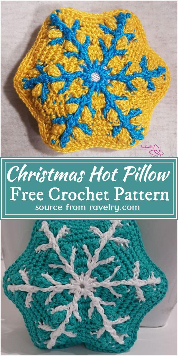 Crochet Christmas Hot Pillow Free Pattern