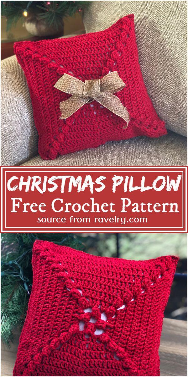 Crochet Christmas Pillow Free Pattern