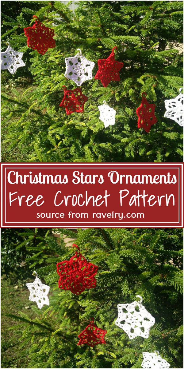 Crochet Christmas Stars Ornaments Free Pattern