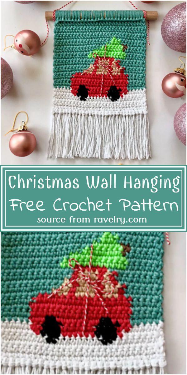 Crochet Christmas Wall Hanging Free Pattern