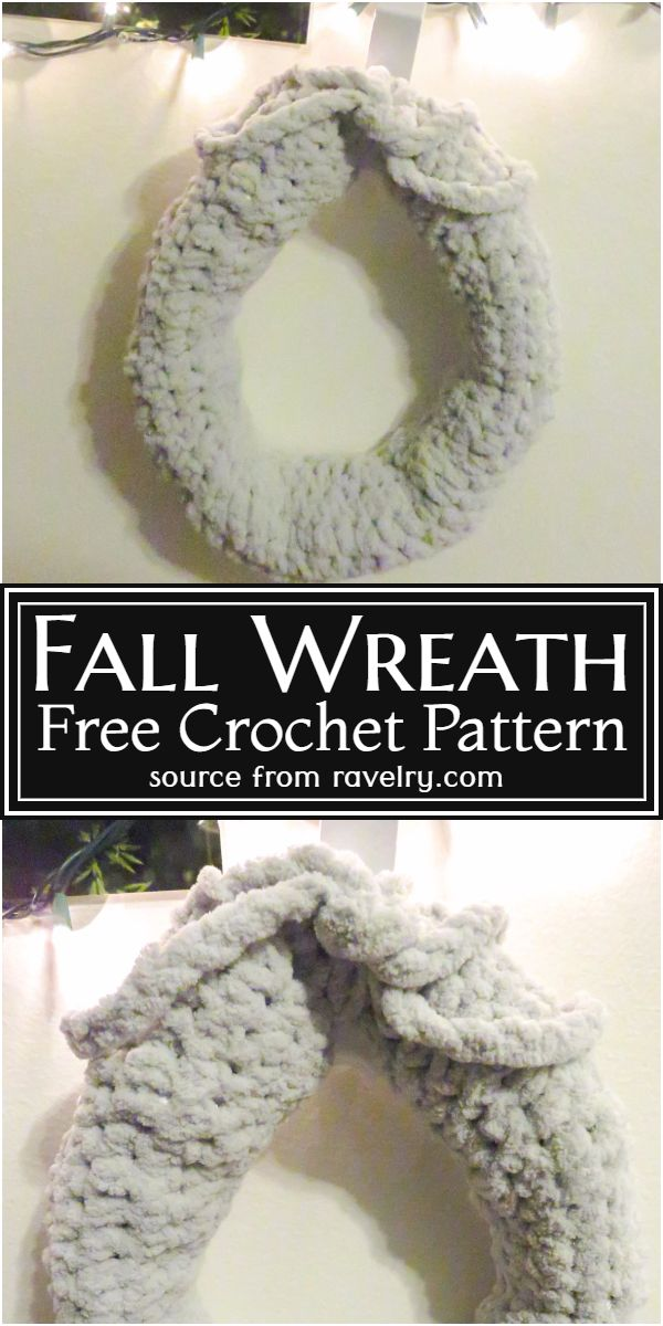 Crochet Fall Wreath Free Pattern