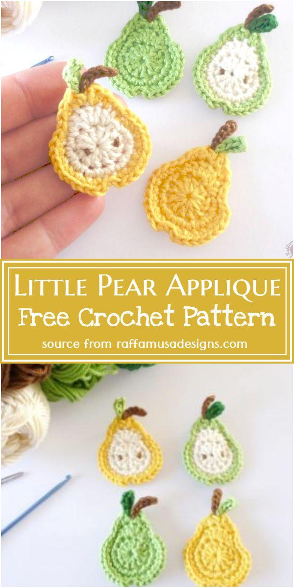 Adorable Little Pear applique Pattern